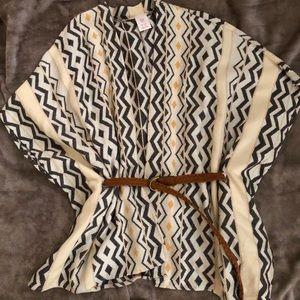 Adorable Boho Belted Shawl
